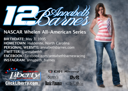 2014 Annabeth Barnes Hero Card - back